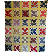 Antique Quilt for Calico lovers!  Charm