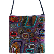 Beaded Evening Bag - Gorgeous Art Deco free-form design