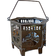 Old Chinese Brass Lantern hexagon / teapot warmer