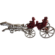 Old Iron Fire Wagon Horse-drawn model