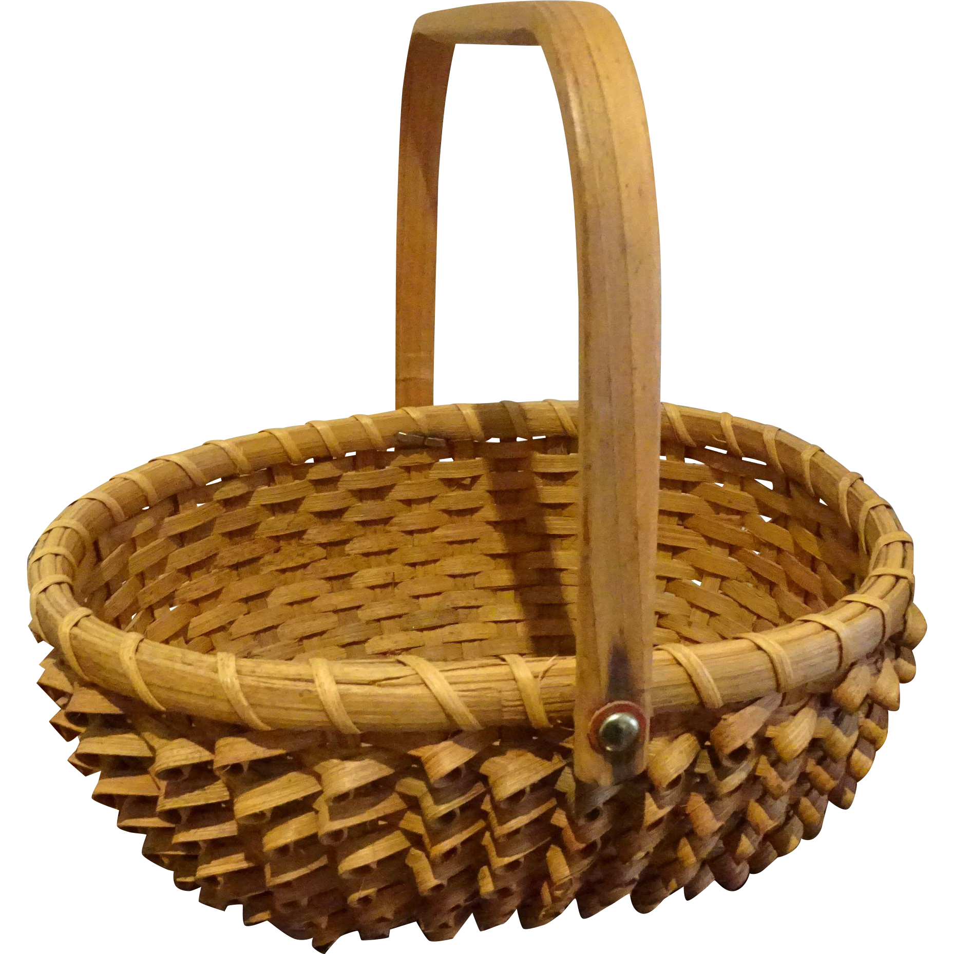 Native American Maine Penobscot Porcupine Basket Mint From