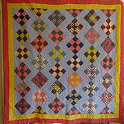 Antique Quilt- Lovely Pennsylvania Dutch Colors