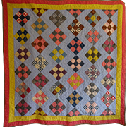 Antique Quilt- Lovely Pennsylvania Dutch Colors