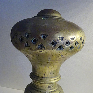 """Huge Brass Finial 7"""" old and heavy"""
