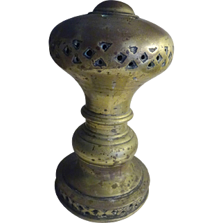 "Huge Brass Finial 7"" old and heavy"