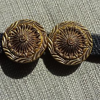 Vintage Czech Gold Belt Buckles