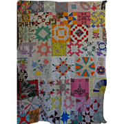 Quilt TOP- Friendship Sampler - Feed Sacks