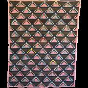 Quilt ~ Vintage Striking Stylized  Bright Unused