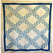 Quilt- old Blue and White Wild Goose Chase