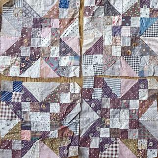 Ancient Quilt Blocks 8 pieces --11 inches