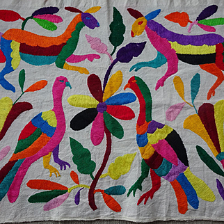 Embroidered Animals--Primitive and Joyous