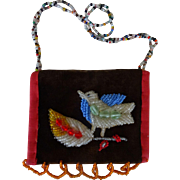 Bird Purse - Beaded Whimsey Uroquois Indians
