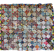 Antique Quilt TOP--1000's of mini size scraps