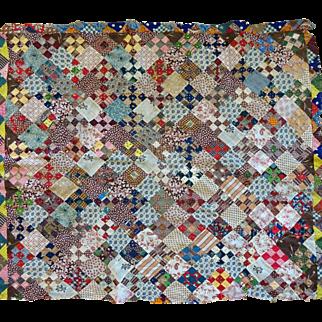 Antique Quilt TOP--1000's of mini size scraps