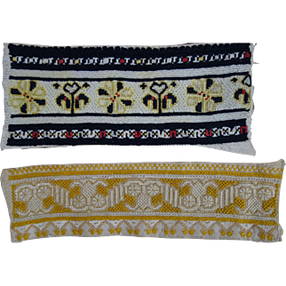 old Stichery Examples & embroidered pouch