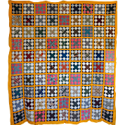 Quilt TOP great collection of 1800's calicos 90 blocks