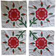 Quilt Block Set of 4 reverse appliqué 1800's