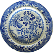 Old Spode Plates  Blue/White  pretty Chinese motif 5 plates