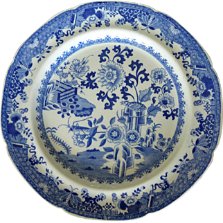Old Spode Plates  Blue/White  pretty Chinese motif