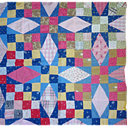 Old Quilt Piece--doll quilt top, or....