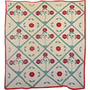 Pomegranate Applique Quilt Mt. Mist 1932
