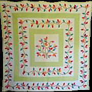 Vintage Quilt--Applique Leafy Vines
