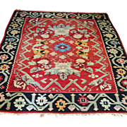 Antique Kilim Bessarabian Moldov Rug 2-sided