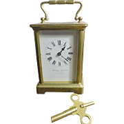 French Carriage Clock Ovington Brothers NY retailer