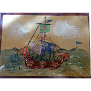 Ship Collage made from Postage Stamps