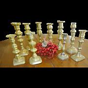 Antique Brass Candlesticks 10 England