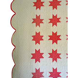 Vintage Quilt Double Pink Stars Fab Quilting
