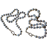 Pearl Necklaces Pair Cultured Baroque Knotted