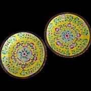 Chinese Beautiful Cloisonee Dishes 2  c. 1900