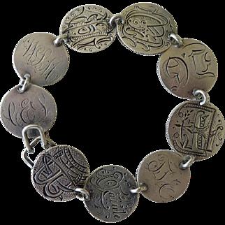 Old Love Token Bracelet 9 engraved coins
