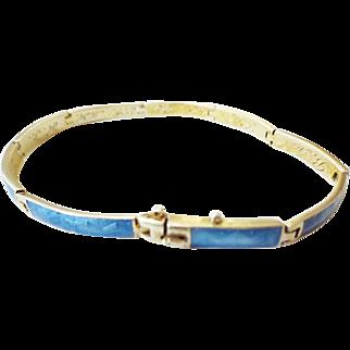 Danish Silver Enamel Friendship Bracelet 1920
