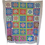 Feedsack Lovers' Quilt TOP fabulous - Red Tag Sale Item