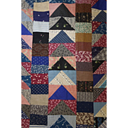 Scrap Quilt TOP 1890's Flying Geese Gorgeous!