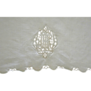 Linen Runner with intricate MONOGRAM
