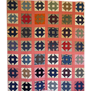 Quilt~ Monkey Wrench / Churn Dash c.. 1900