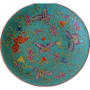 Old Chinese Butterfly Plate ~ very Pretty Colors!