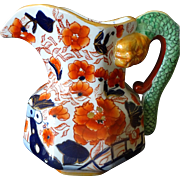Mason's COLONIAL English Ironstone Imari Serpent-handle Jug