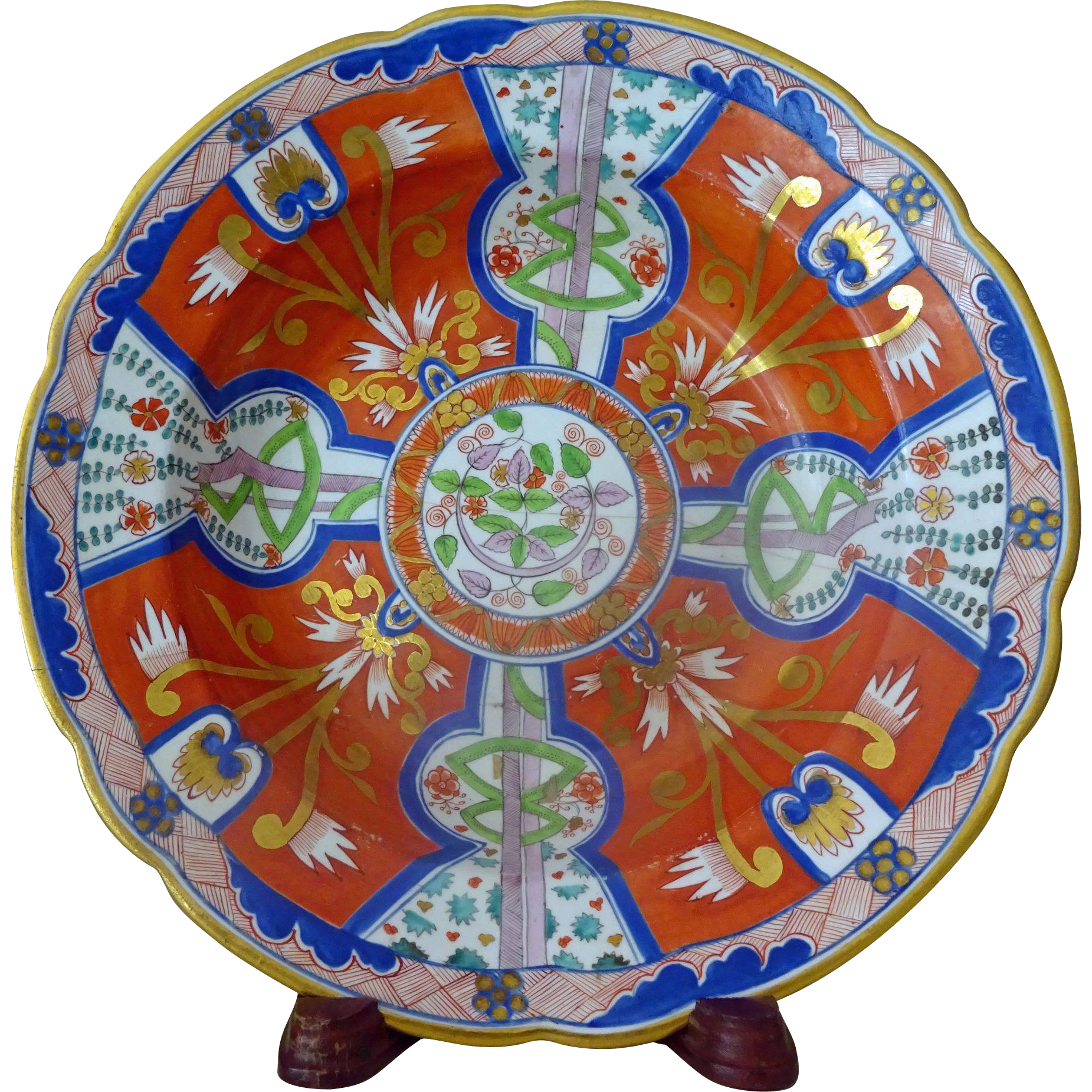 Antique worcester rimmed soup bowl imari from for Jewelry stores in worcester massachusetts