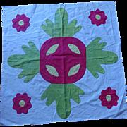 """c.1850 Applique Quilt Block 25-1/2""""  ~4 available"""