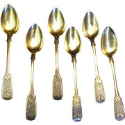 ANTIQUE RUSSIAN 84 SILVER NIELLO SPOONS