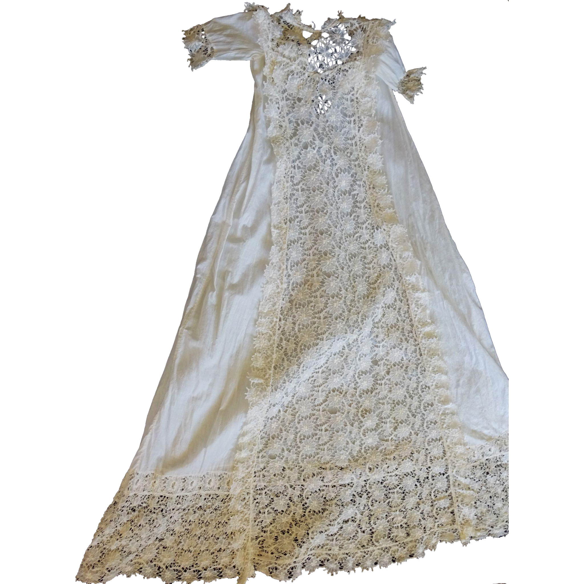 Antique Christening Gown with Amazing handmade lace from ...