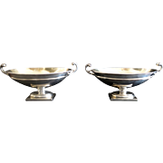 Antique Sterling Salt Cellars ~ Carrington & Co. 1906-07 English Silversmiths