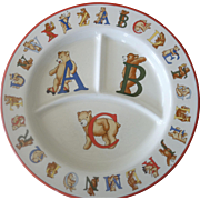 Tiffany & Co.BEARS Alphabet baby Plate 1994