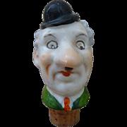Vintage Figural Ceramic Bottle Stopper