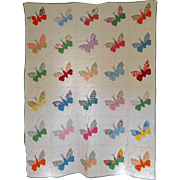 Quilt  30's Butterfly Charm Quilt  mid-size