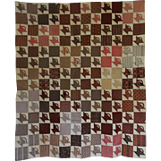 1800's Crib Quilt TOP Tiny Baskets